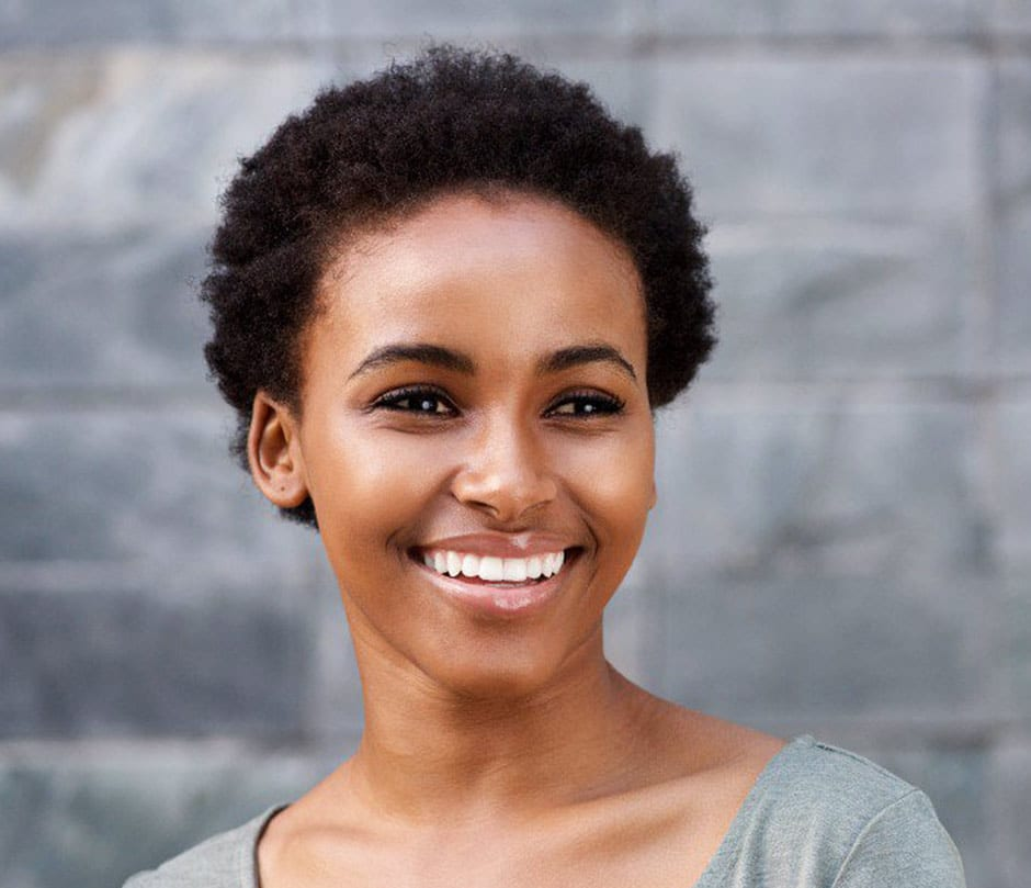 Image of smiling african-american woman