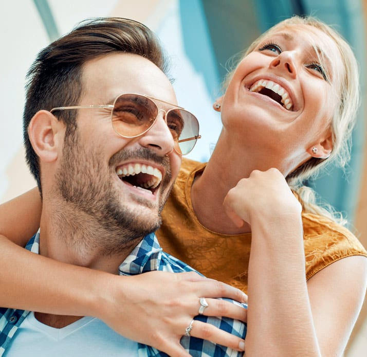 Image of smiling joyous couple