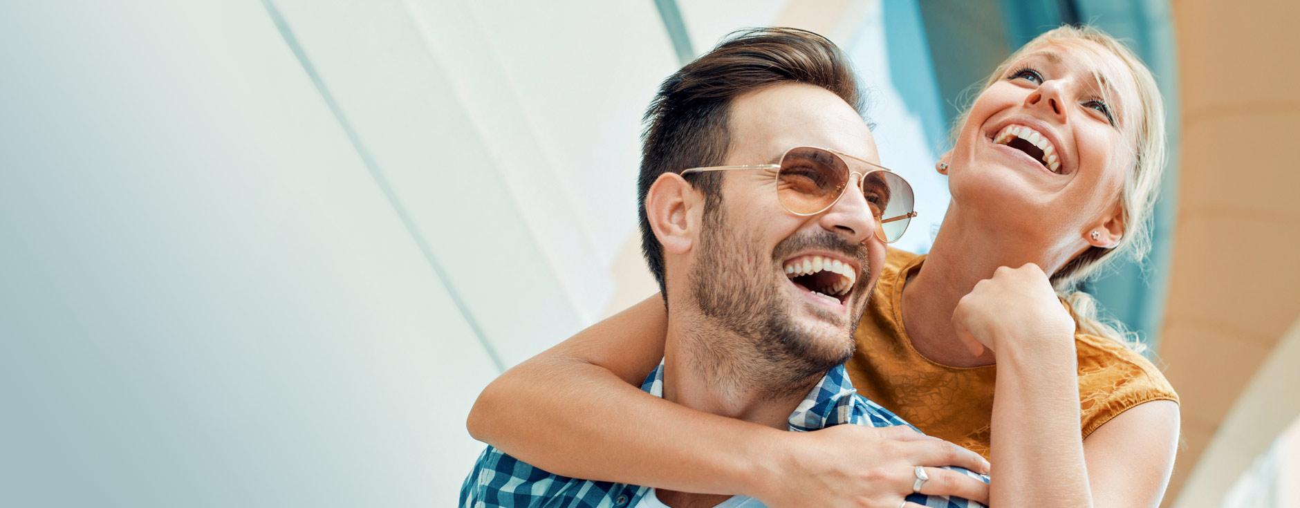 Image of smiling joyous couple