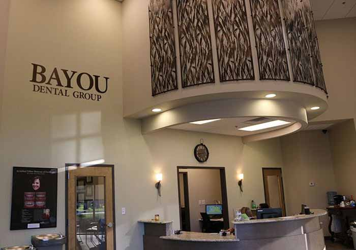 Photo of the reception area of Bayou Dental Group in Monroe, LA.